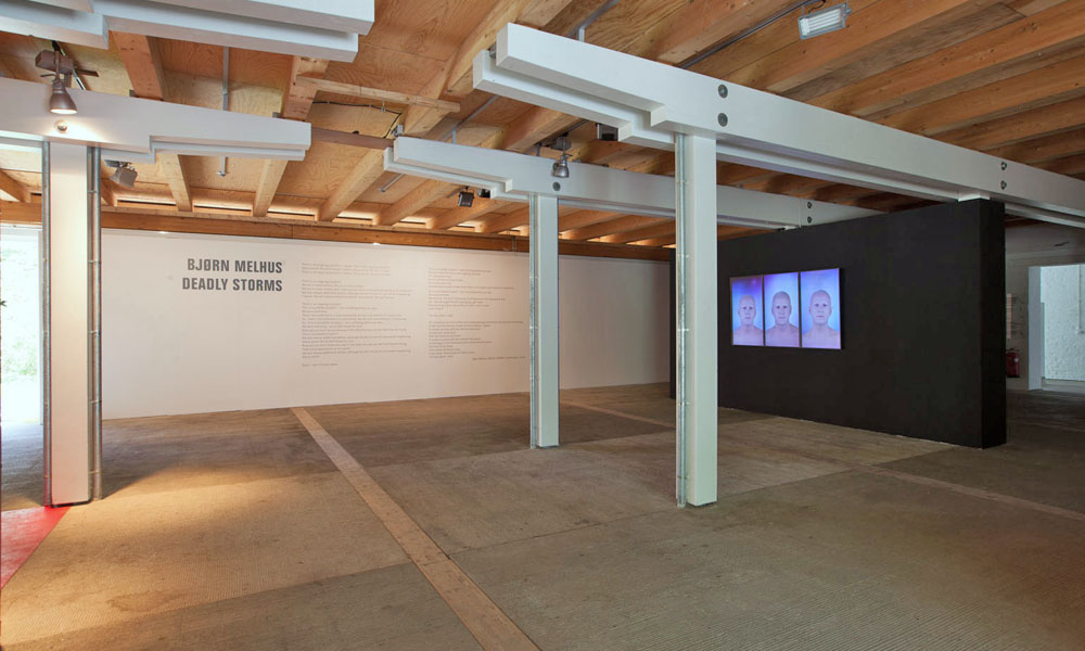 Deadly Storms with Central Poem, Installation View (Schafhof), 2013, Photo: Zoltan Kerekes