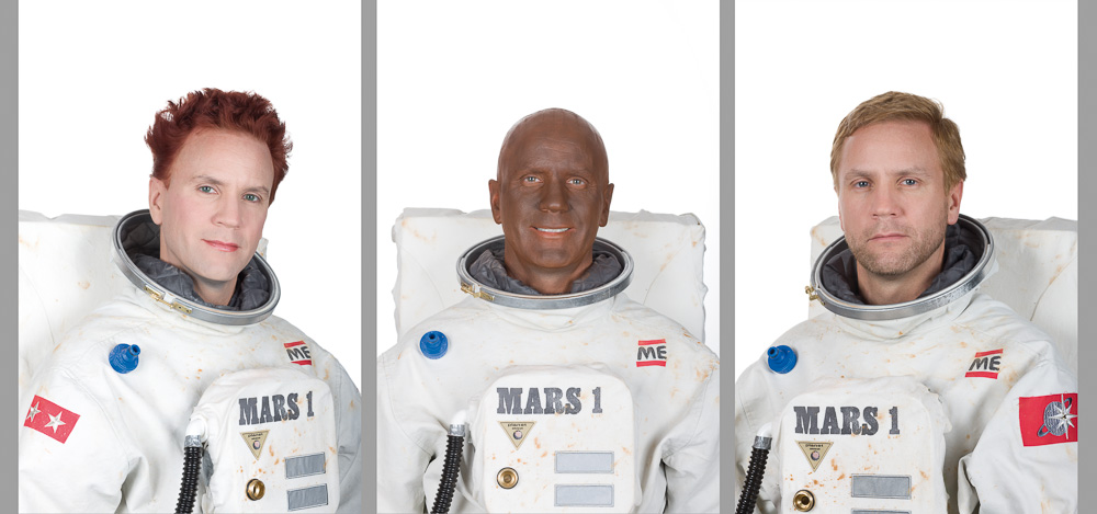 Mars Survivors, Triptych, C-Print mounted behind acrylic glass, 100 x 67 cm each