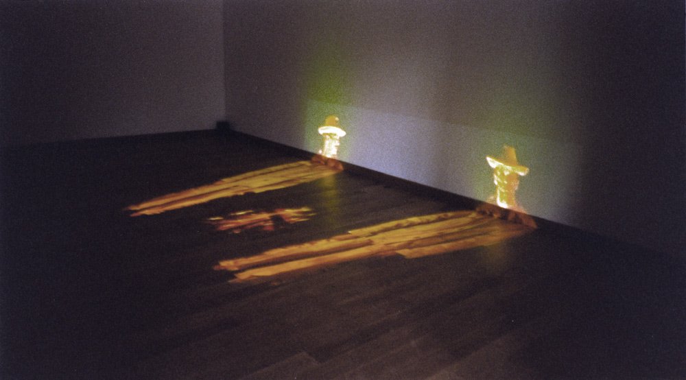 SILVERCITY 1,  Video Installation, 2 channels, 7 min., 1999, Installation View