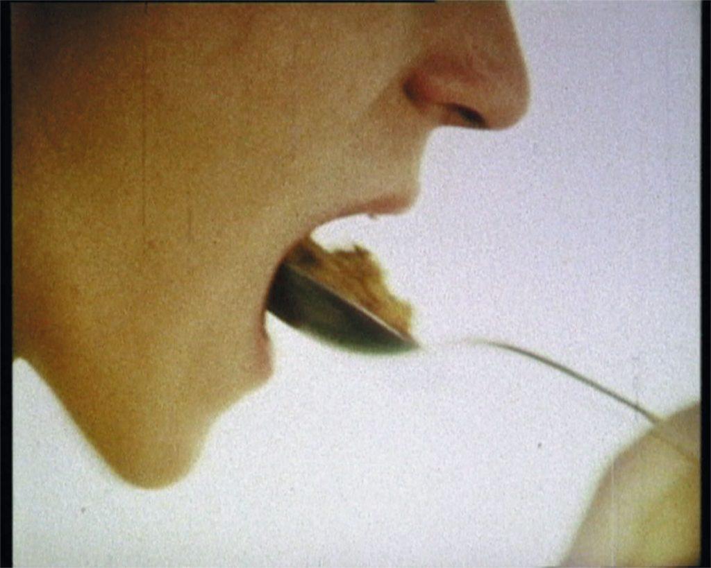 Bjørn Melhus, Cornflakes, 16mm film, 1987, 2 min., film still