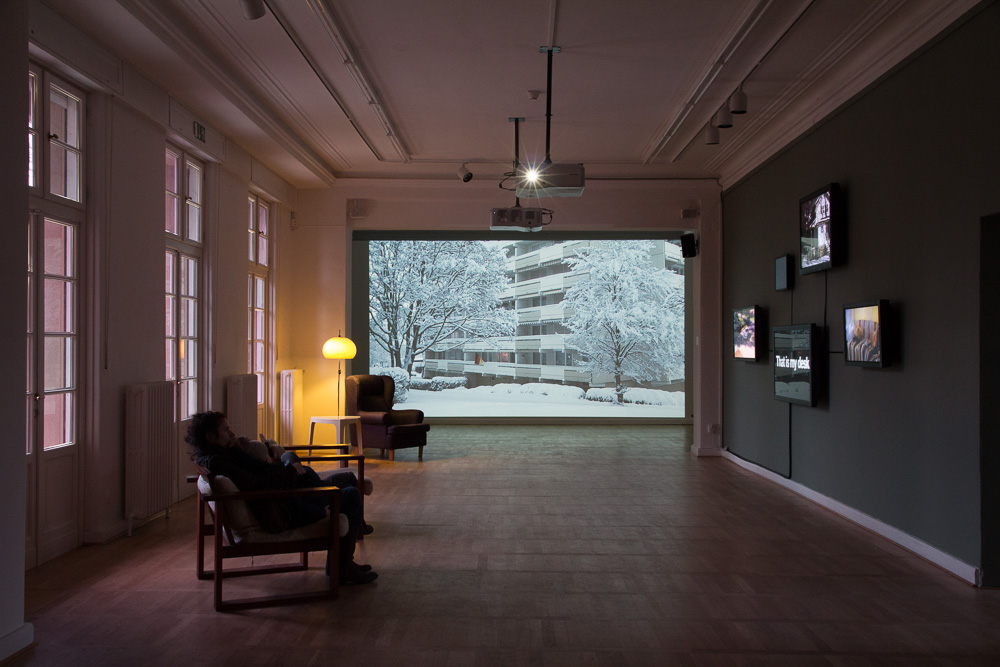 Bjørn Melhus, I'm Not The Enemy, HD Video, 25 min., 2011, Installation View: Live Action Hero, Haus am Waldsee, 2011, Photo: Bjørn Melhus