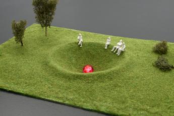 Bjørn Melhus: Modell für Magdeburger Krater, 2015